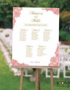 Image also wedding seating chart board elegant coral gold lace etsy rh