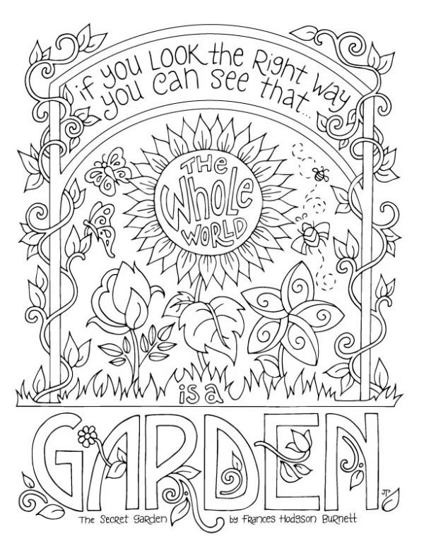 garden coloring page # 21
