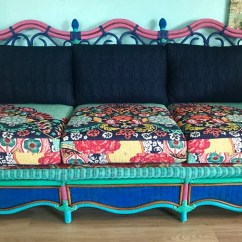 Bohemian Sofa Bed Sleeper Sofas Seattle Etsy Boho Couch Decor Colorful Unique