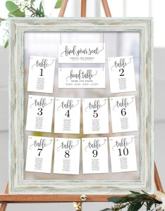 Wedding seating chart template set printable table plan editable pdf templates instant download lovely calligraphy collection lcc also etsy rh