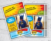 Superhero Training Camp Photo Birthday Invitation | 5x7 | Print-It-Yourself | Digital Download | Printable | Custom Invitation