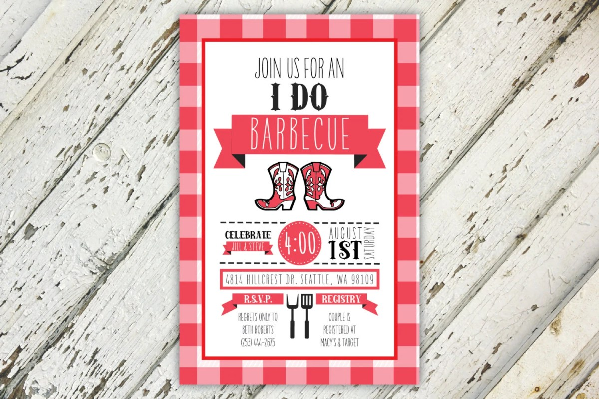 I Do BBQ Red And White Co...