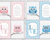 Boy or Girl Owl Nursery P...