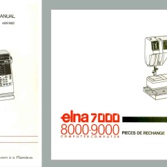 Elna Sewing Machine Parts Diagram Totaline Thermostat Wiring 9000 Diva Service Manual And Schematics Book Etsy Image 0