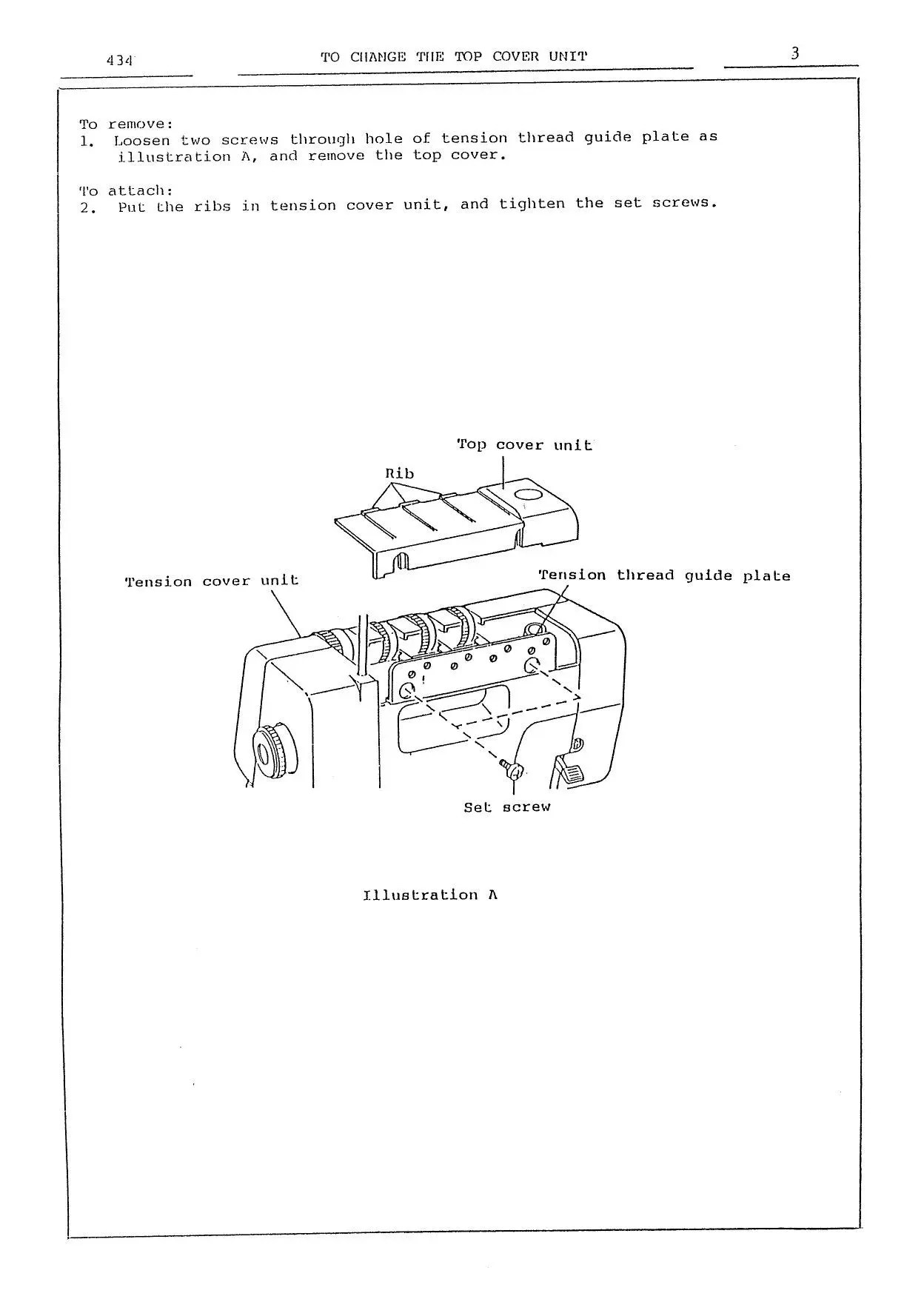 MyLock 434D Instruction Service / Repair manual