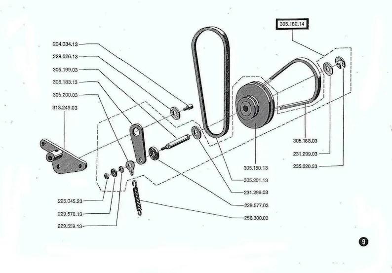 Vintage Bernina Record 830 831 832 Sewing Machine Service