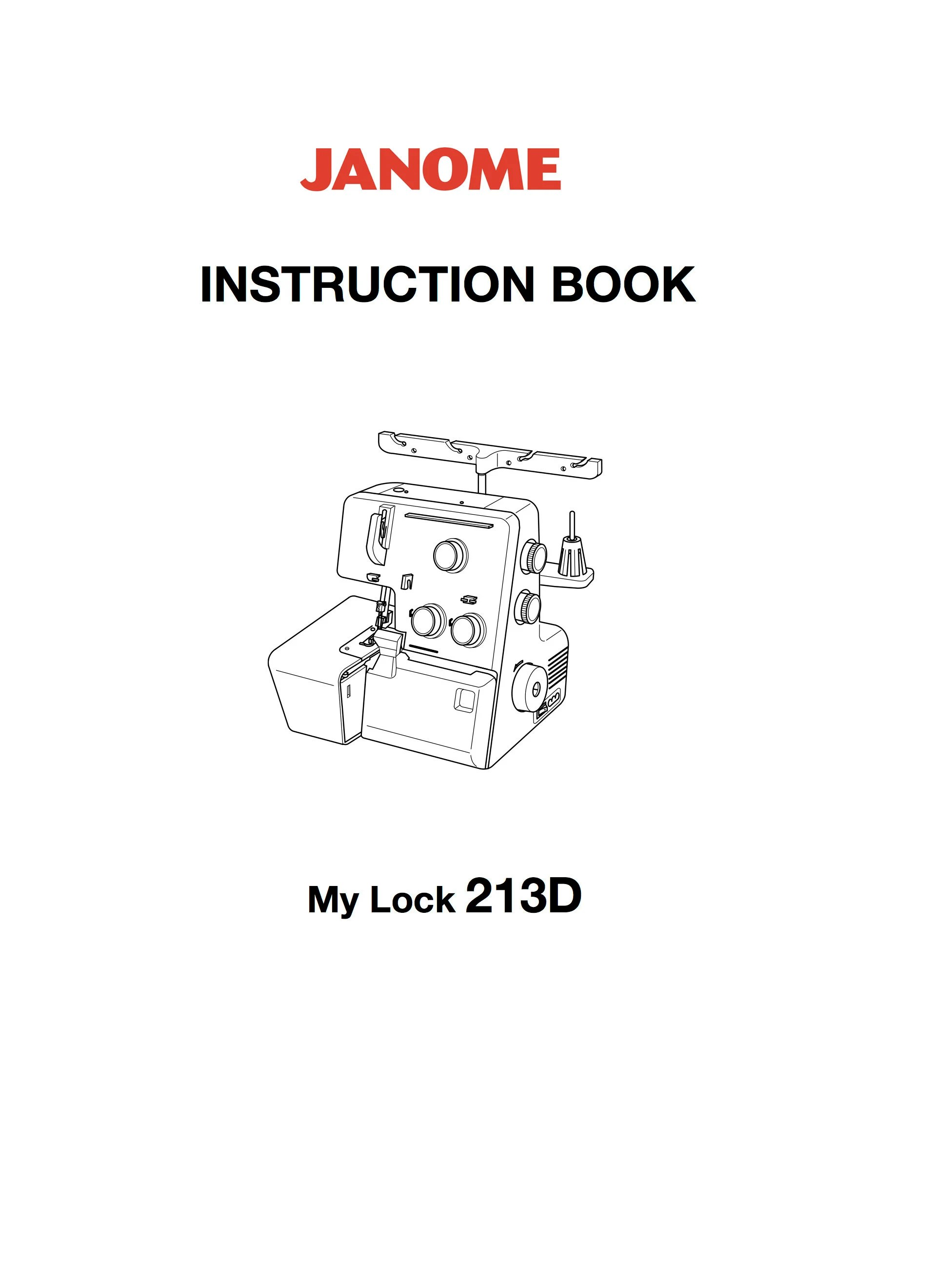 MyLock 213D Instruction and Service / Repair manual Janome