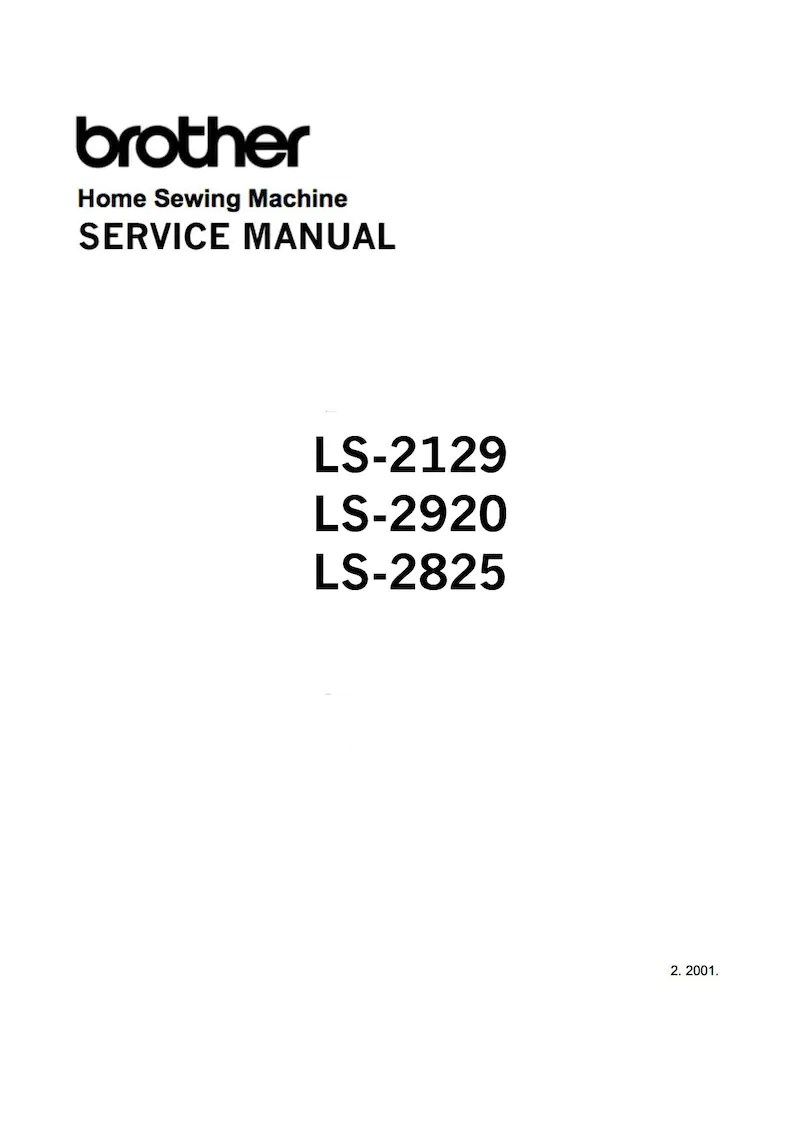 Brother Ls-2129 LS-2920 LS-2825 Service / Repair manual