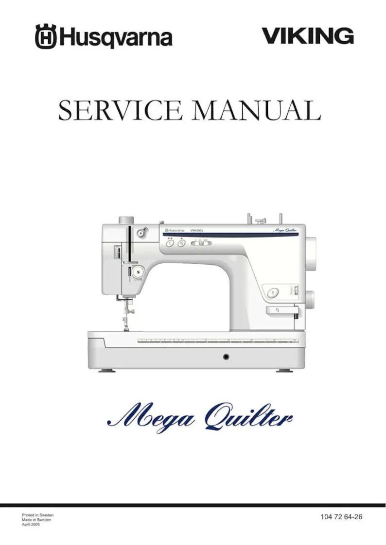 Husqvarna Viking Mega QUILTER Service / Repair manual