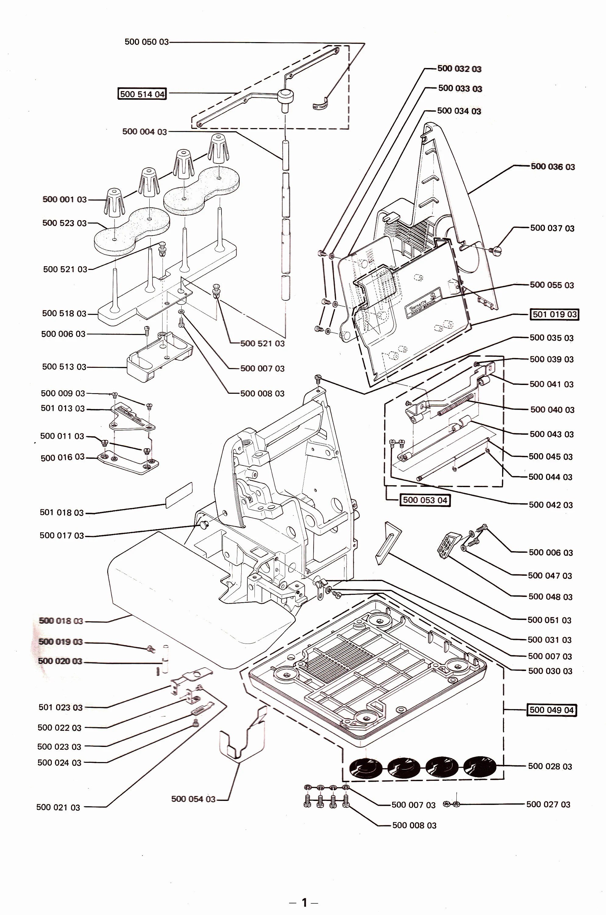 Bernette MO-234 Serger Instruction / Operating manual