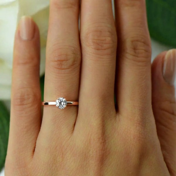 1 2 Ct Promise Ring Engagement Solitaire