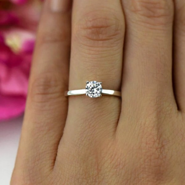 1 2 Ct Promise Ring Engagement Classic Solitaire
