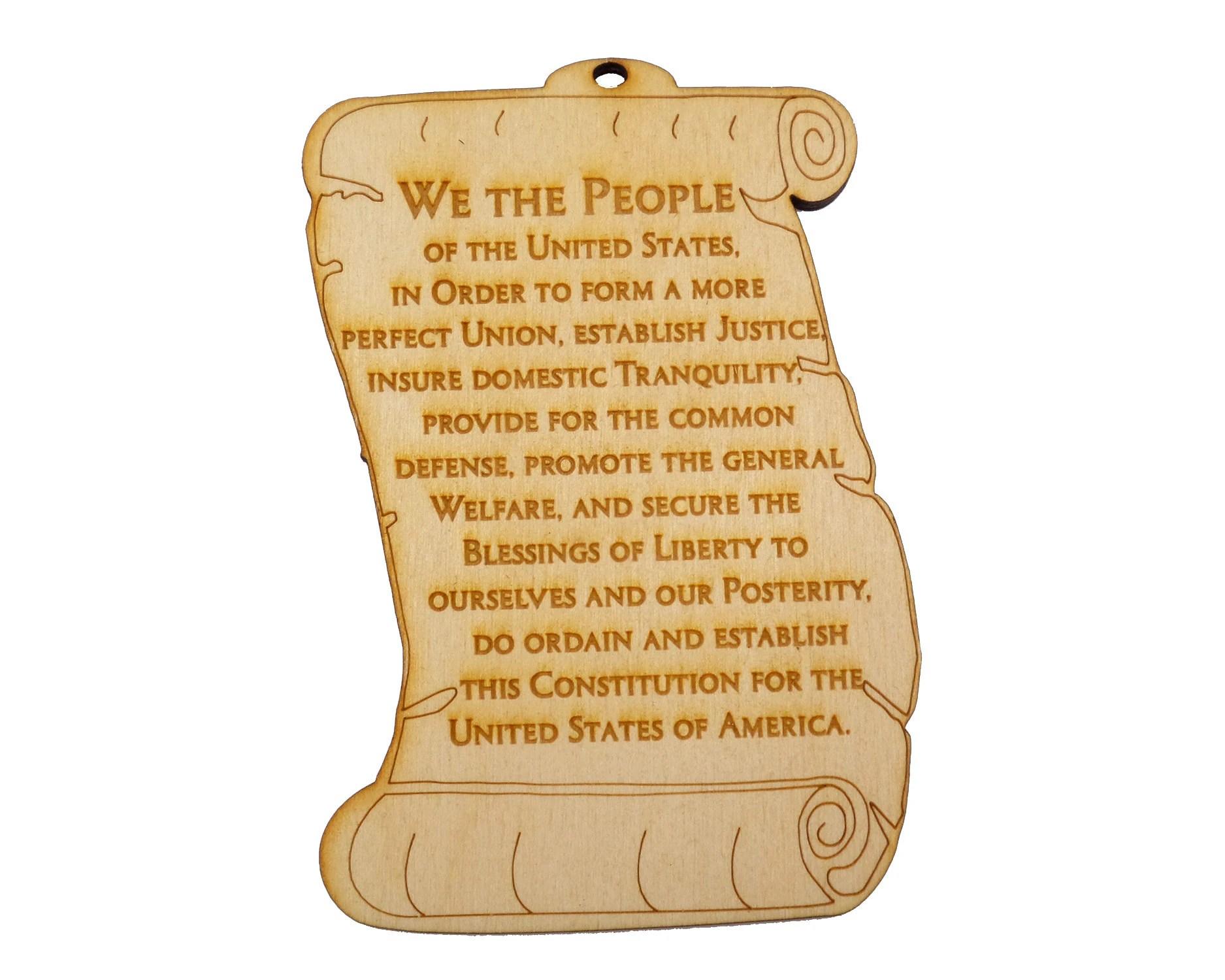 Us Constitution Preamble Ornament Washington Dc Ornament