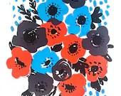 Anemone Blue Screenprint...