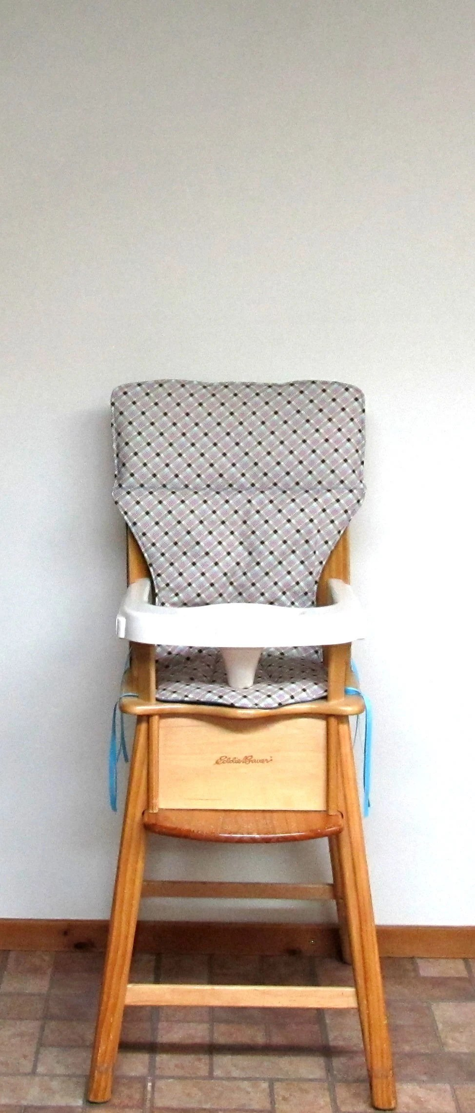 Wooden High Chairs For Babies Eddie Bauer Wooden High Chair Replacement Pad Chair Cushion Baby Accessory A Girly Plaid Child Feeding Chair Pad Protector