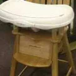 Eddie Bauer Wood High Chair Living Room Side Chairs Pad For Wooden Trucks Etsy 50