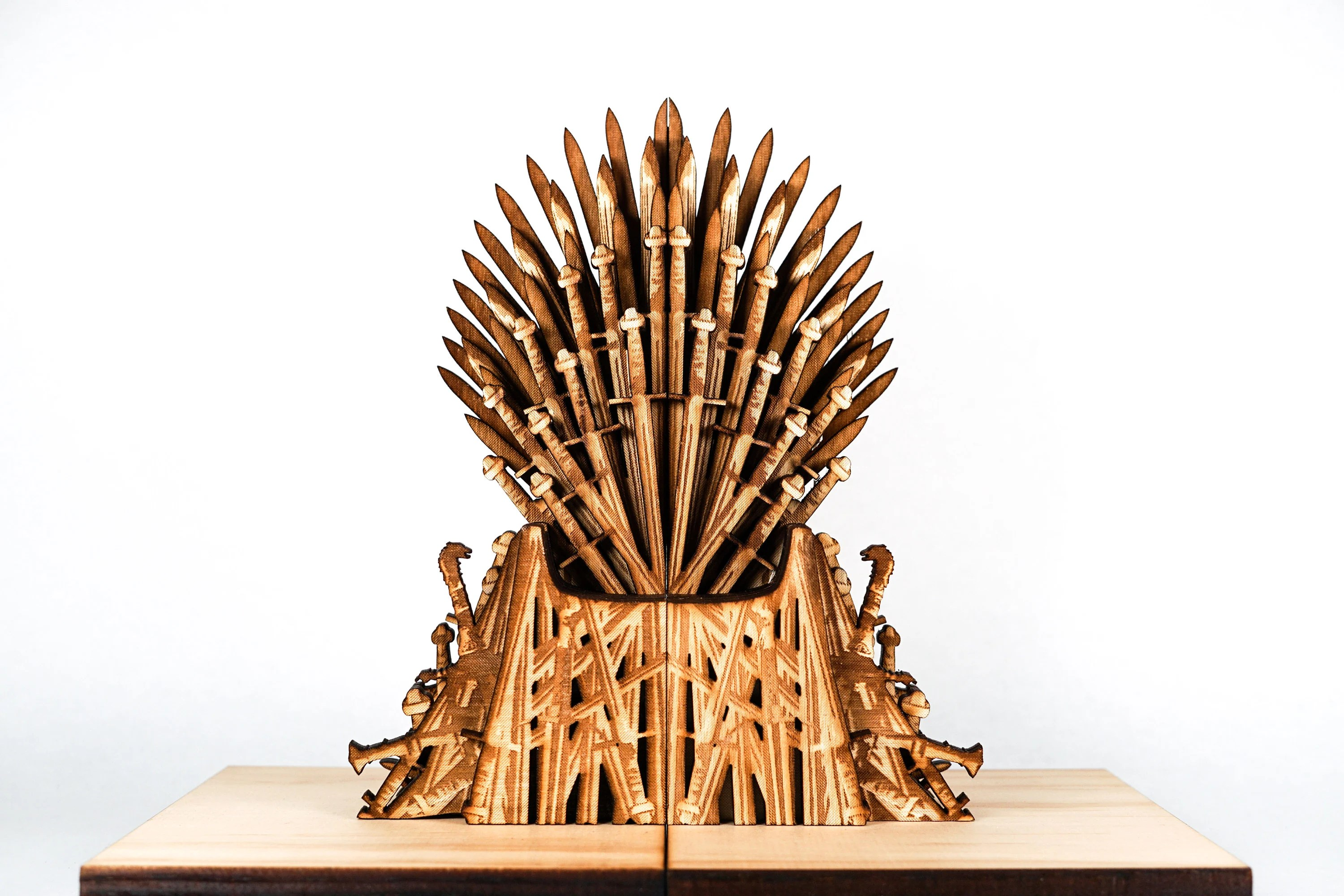 iron throne chair backboard large leather with ottoman etsy bookends the book ends