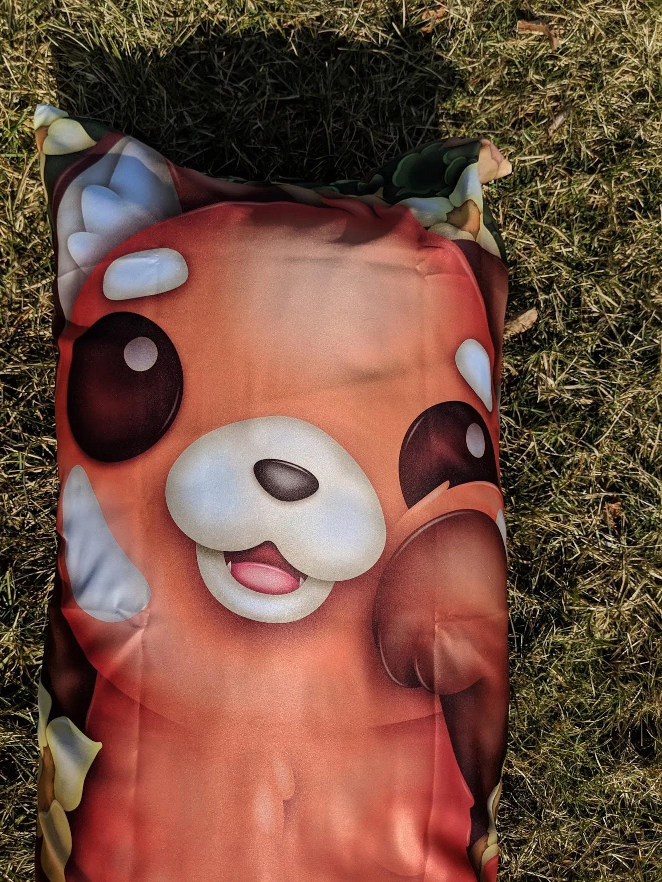 red panda body pillow