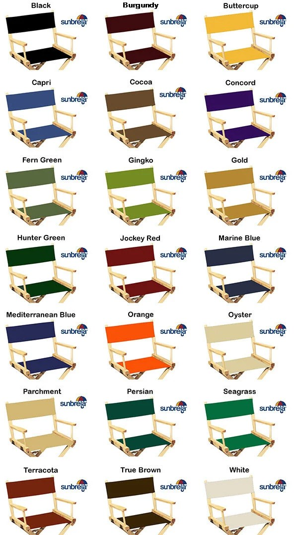 directors chair replacement covers amazon sunbrellar flat stick etsy image 0