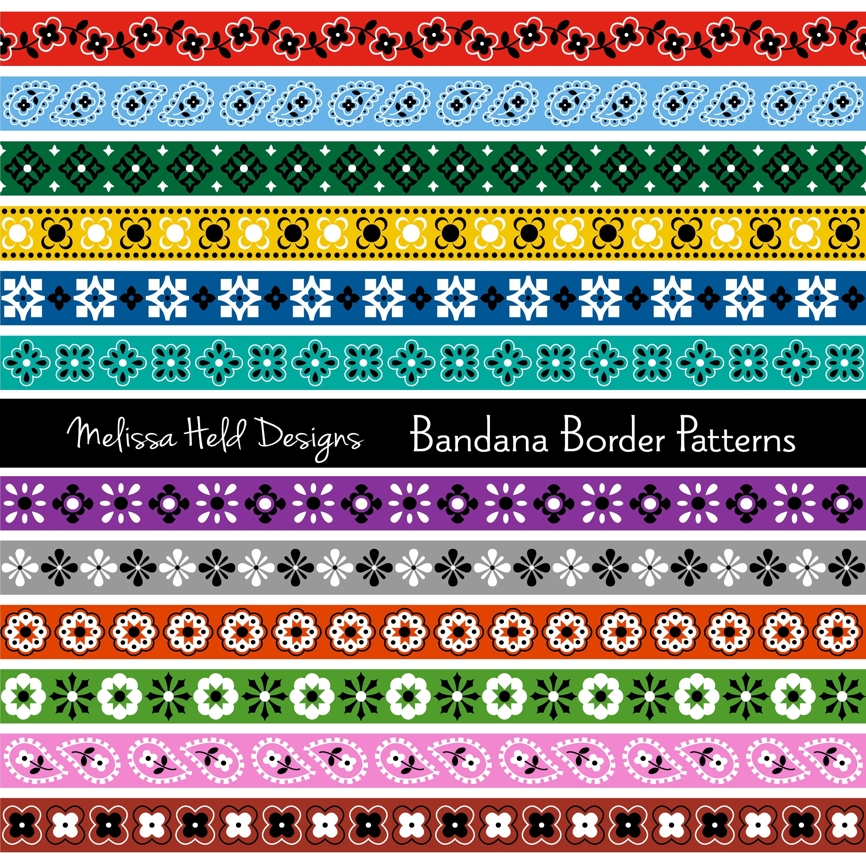 bandana border digital patterns