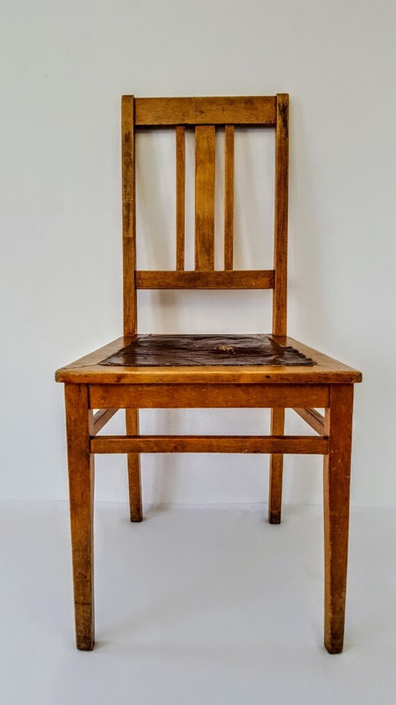 vintage oak dining chairs gym chair olx antique working room etsy 50
