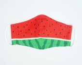 Preorder Cool Breeze Watermelon Red 3D Fabric Mask Cover ~ Adult Kid Double Gauze Mask ~ Japanese Cotton Mask ~ Reusable Mask Cover