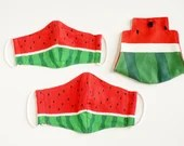 Preorder Cool Breeze Watermelon Red 3D Fabric Mask Cover and Case Bundle ~ Adult Kid Double Gauze Mask ~ Mask Case ~ Japanese Cotton Mask