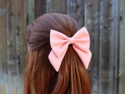4.5 pink hair bow fabric