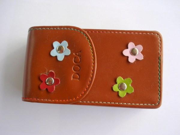 Brown Leather Vintage Cigarette Case Woman Man Accessory