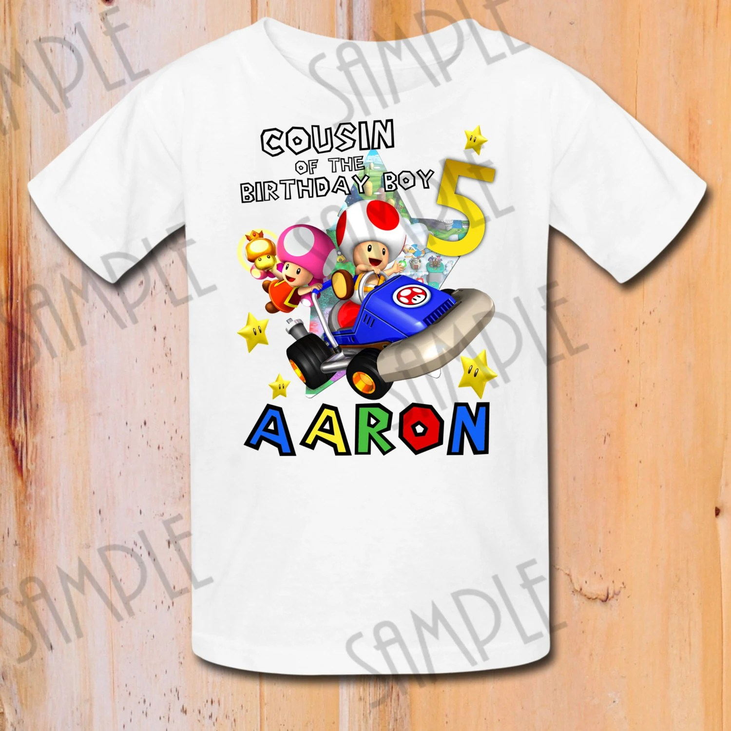 Super Mario Brothers Iron On Transfer Printable Cousin Of