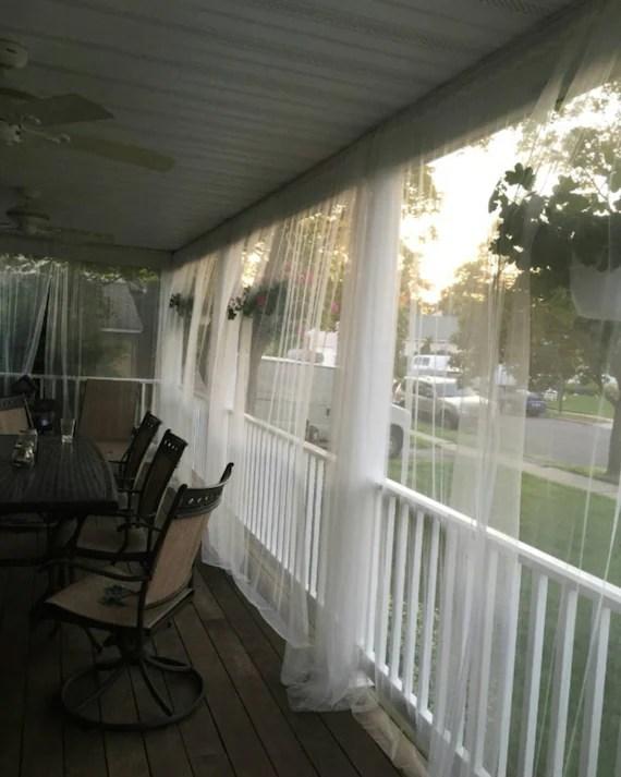 ein weisser moskito netzvorhang fur patio oder schlafzimmer fenster lesen sie beschreibung fur produktdetails bug net curtain for indoor outdoor