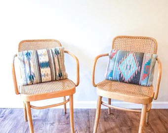 bentwood cane seat chairs wooden chair blueprints etsy rare vintage thonet style armchairs with seats from poland sold separately