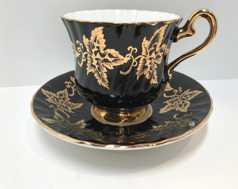 black tea cup etsy