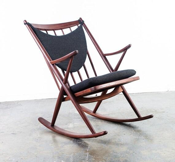 danish modern rocking chair home office desk mid century frank reenskaug bramin etsy image 0