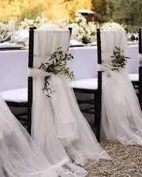 chair covers for weddings kitchen cushion off white cotton gauzebride groom wedding etsy image 0