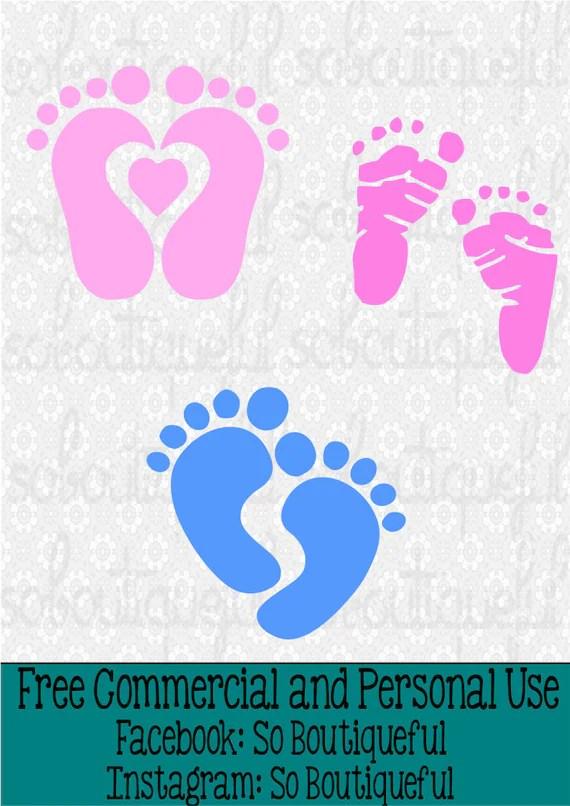 Baby Feet Svg Free : Shower, Newborn
