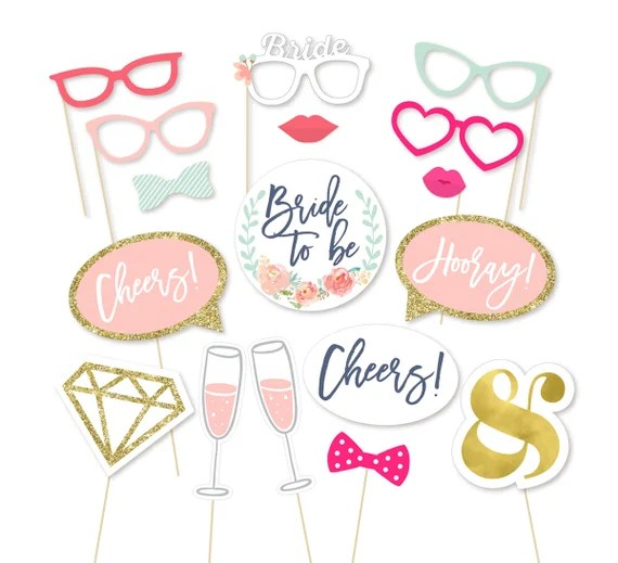 Bridal Photo Booth Props