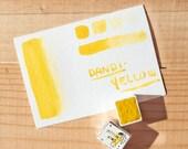 DANDIYELLOW - Half pan handmade watercolor - Aquarelle maison