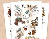 PAPER STICKER SHEET - Fluffy's essential magic items