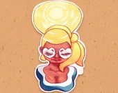 Watercolor Sunshine sun girl Sticker - Vinyl sticker