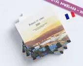 Paysages et scenes 2020 - un carnet de croquis, aquarelles et gouaches. LIVRE DIGITAL FRANÇAIS