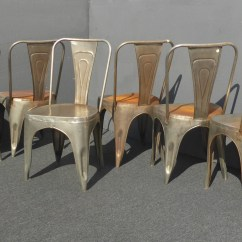 Rustic Metal Dining Chairs Chair Sets Of 4 Etsy Six Unique Vintage Industrial Style Farmhouse Chic