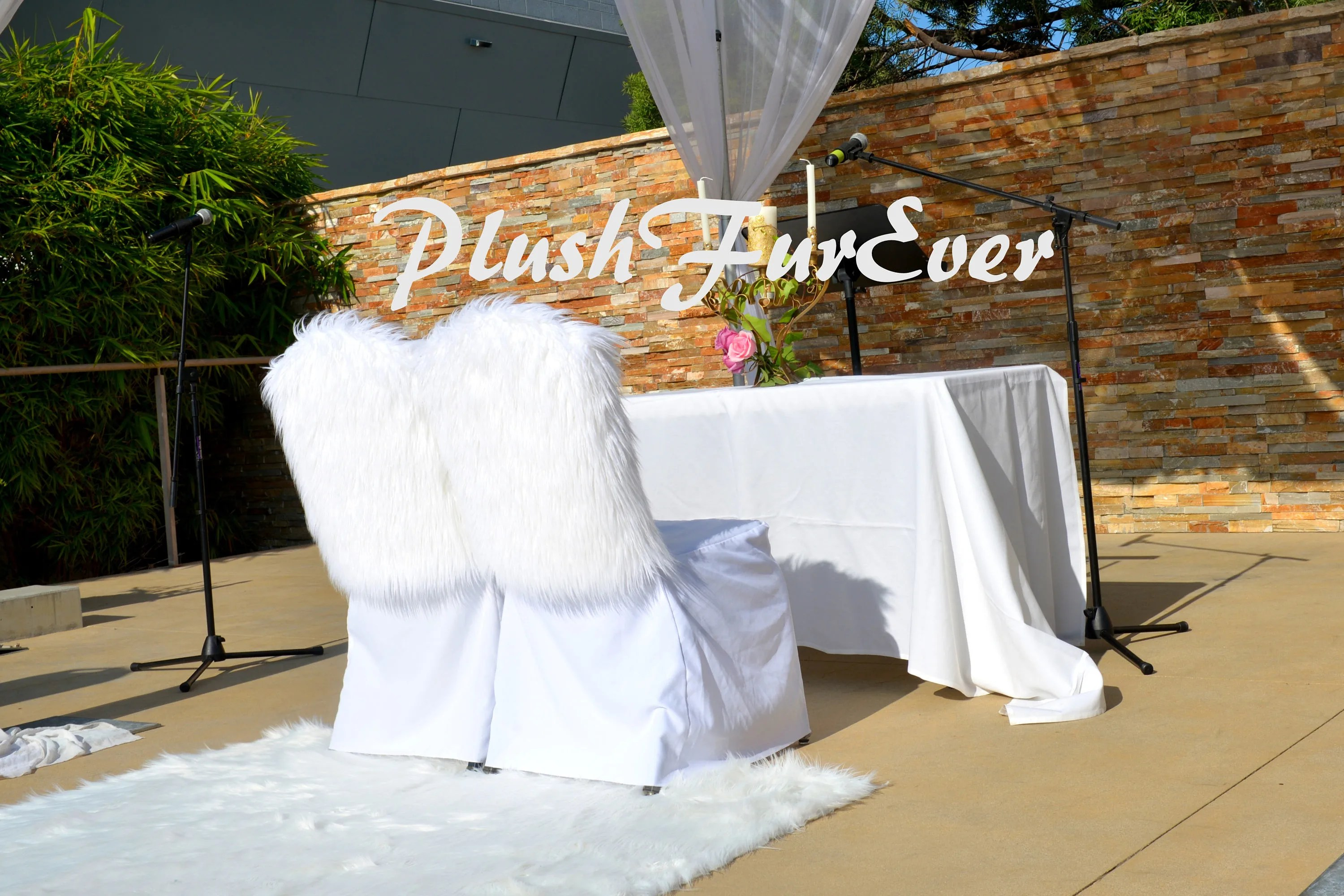wedding chair covers for bride and groom theater style chairs home cover one pair seats luxurious fancy cute trendy faux fur custom sizes colors available