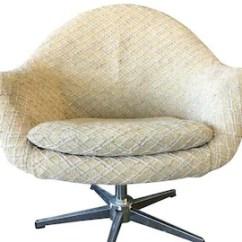 Swivel Pod Chair Yellow Dining Etsy Danish Modern Overman Chrome 2