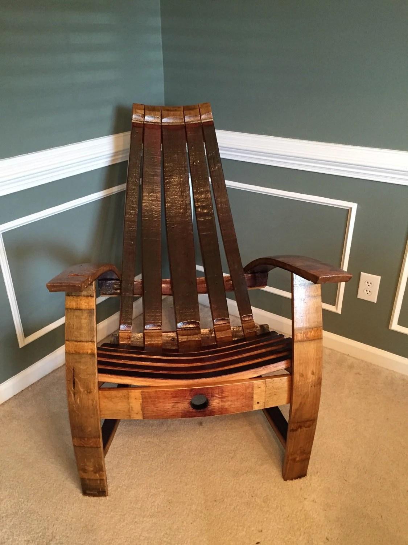 adirondack chair kit large round living room red wine barrel etsy