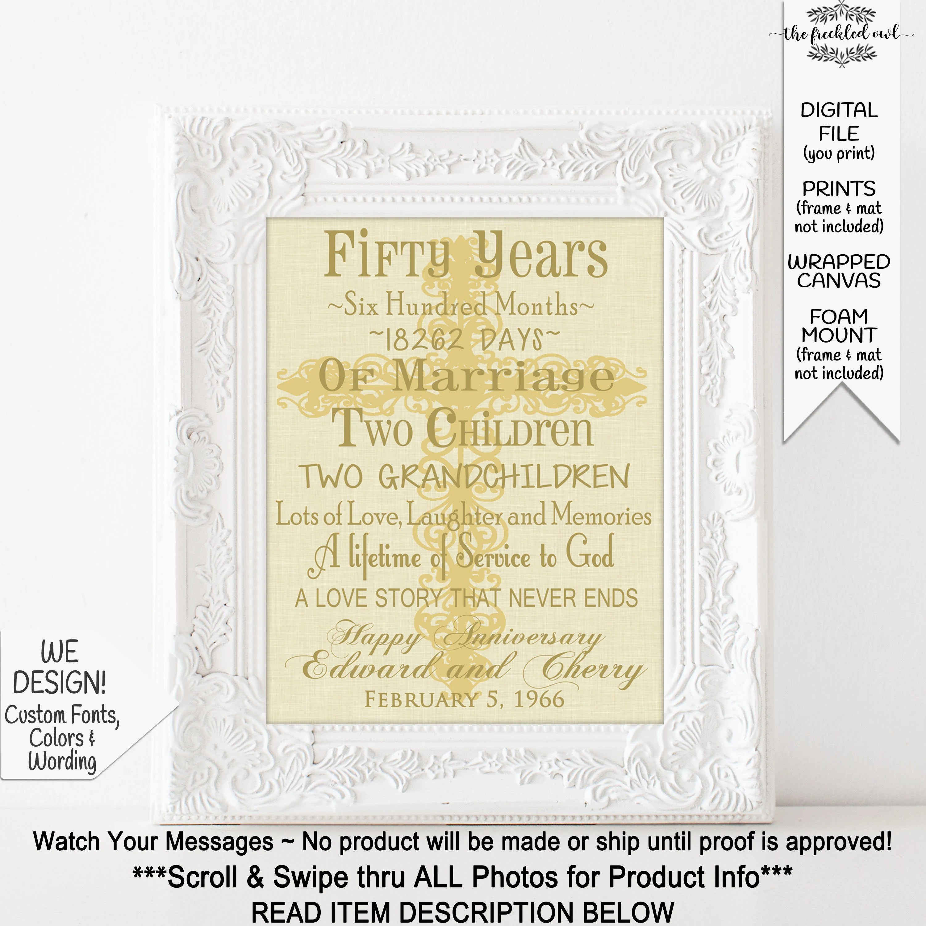 religious 50th anniversary gifts