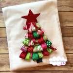 3d Ribbon Christmas Tree Christmas Shirt Christmas Tree Etsy