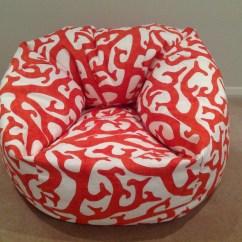 Mushroom Bean Bag Chair Rocking With Dildo Coastal Coral Reef Design Orange White Navy Etsy Image 0
