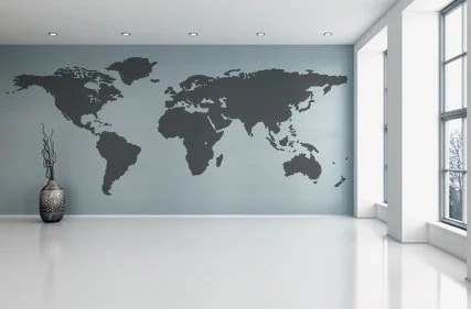 World map wall decal vinyl wall sticker decals home decor art etsy world map wall decal vinyl wall sticker decals home decor art etsy gumiabroncs Choice Image