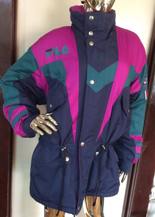 Vintage Fila Ski Team Italia Blue Jacket Coat Rare 80'
